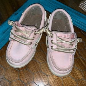 Sperry baby size 8 light pink